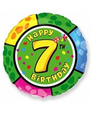 Цифра 7 на круглом шаре