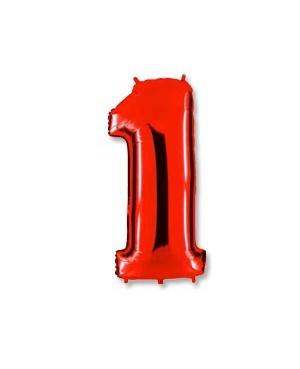 Цифра 1 красная