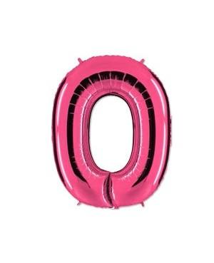 Цифра 0 розовая