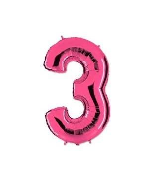 Цифра 3 розовая