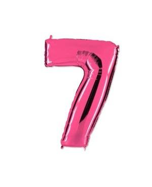 Цифра 7 розовая