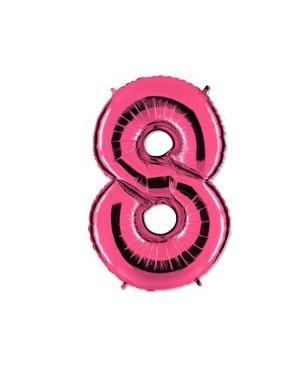 Цифра 8 розовая